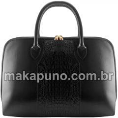 Pasta Executiva Feminina em couro preto para notebook de 14, 15,6 ou 16 polegadas ca465p