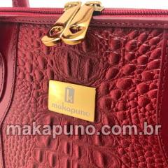 Pasta Executiva Feminina em couro vermelho para notebook de 14, 15,6 ou 16 polegadas ca465v